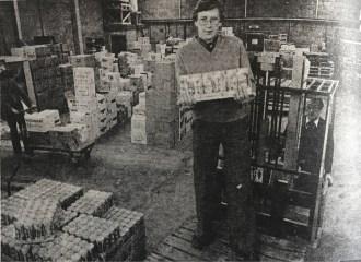 1980 Jim Botterill Junior at new warehouse