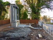 2018 Oct Auchentibber Memorial Rebuild