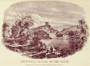 1800s Bothwell Castle on the Clyde