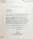 Letter Lose of life 26 Feb 1944