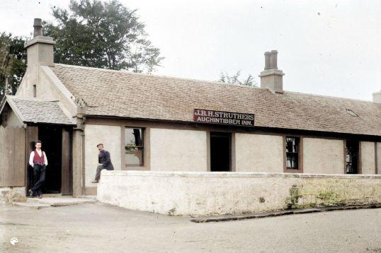 1908 Auchentibber Inn-Colorized