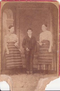 1884 Agnes Traynor on left