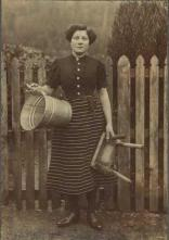 1920 Maggie Marshall at Hallside Farm. Shared by A Rochead