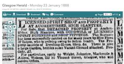 1888 Flora McIntyre tries to sell Auchentibber Inn