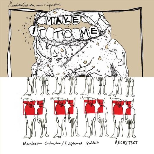 "MANCHESTER ORCHESTRA x GROUPLOVE x FRIGHTENED RABBIT :: ""Architech"" / ""Make It To Me"" 7"""