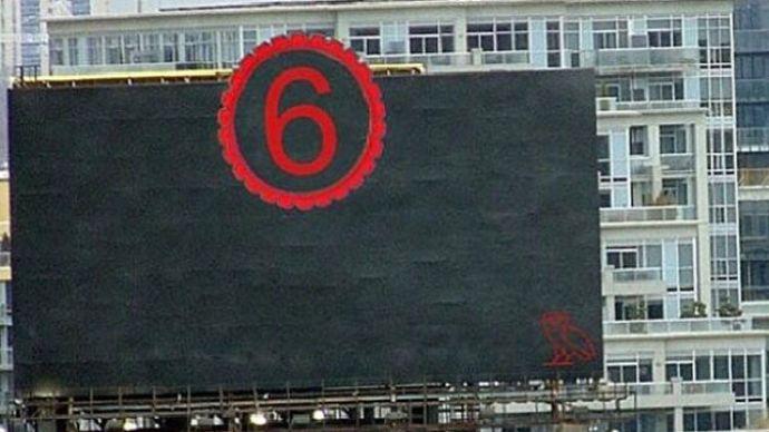 Drake's The 6 Billboard