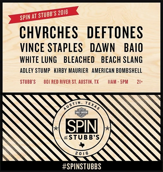 SPIN At Stubb's SXSW Day Party