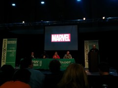 Time for the Marvel panel - Photo by Blas Garcia