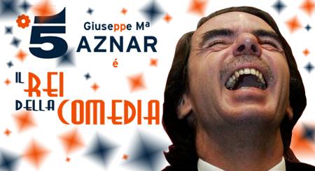 Cartel do novo programa de Aznar en Canale 5