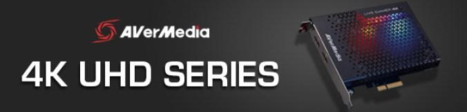 AVerMedia 4K UHD line banner image
