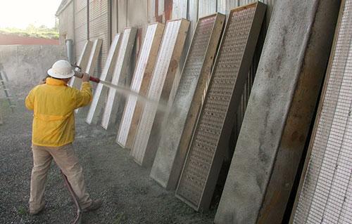 AA-020 Shotcrete concrete slab