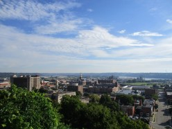view from the top of Dubuque