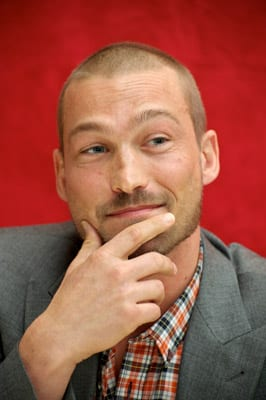 Andy Whitfield at the Spartacus: Blood and Sand Press Conference at The Four Seasons Hotel on July 21 in Beverly Hills, California. (WireImage)