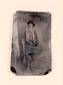 The only known photo of Billy the Kid