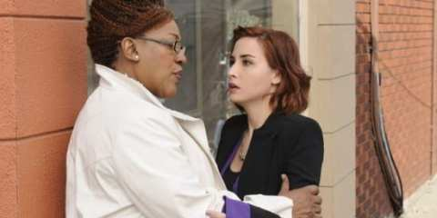 Claudia and Mrs. Frederic witness the birth of an artifact in this week's Warehouse 13