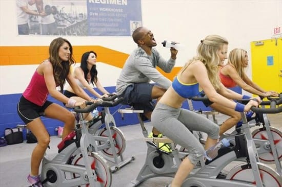 Brad (Damon Wayan's Jr) enjoys a spinning class with Jane's (Eliza Coupe) co-workers wives.