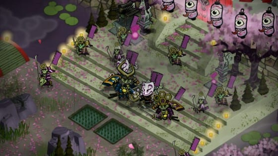 Matches in Skulls of the Shogun can get quite hectic.