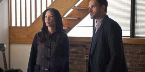 Sherlock (Jonny Lee Miller) and Joan (Lucy Liu) investigate the mysterious murder.