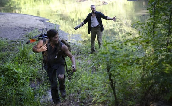 "Daryl (Norman Reedus) and Merle (Michael Rooker) end up with some of the best scenes of the episode in ""Home."""