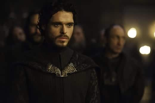 Robb (Richard Madden) at the Red Wedding.