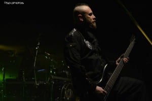 Bassist Marco Coti Zelati performing as part of Revolver's Hottest Chicks in Metal tour. Media credit to Sinan Pehlivanoglu.