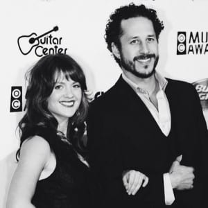 The duo on the red carpet at the 2014 OC Music Awards. Media credit to David & Olivia.