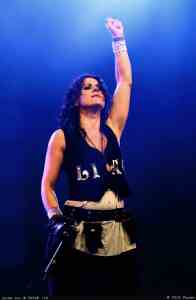 Frontwoman and lead vocalist Christina Scabbia of Lacuna Coil. Media credit to Praveen.