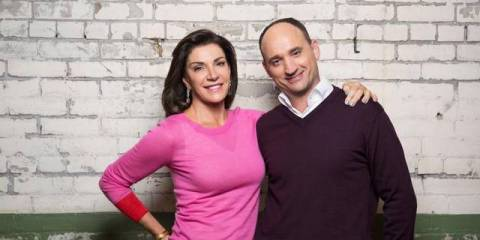 "Hillary Farr and David Visentin, hosts of HGTV's ""Love It or List It"""