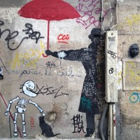 There is really cool graffiti in Paris