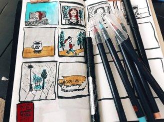 4/24: Been having fun drawing my life in comics