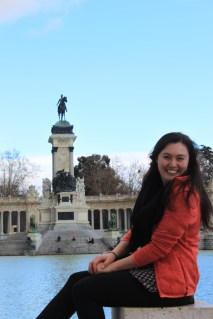Smiling in Madrid while studying abroad in London