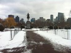 Boston Public Gardens: a cold January morning