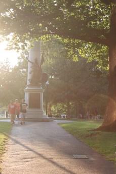 Boston Commons: a summer night