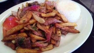 Lomo Saltado from Inka Mamma in Costa Mesa (so so good omg)