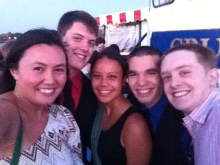 Harbor Cruise with these kids! Myself, Jeff, Leanne, Will, and Peter (me using Erica's phone because mine has issues)