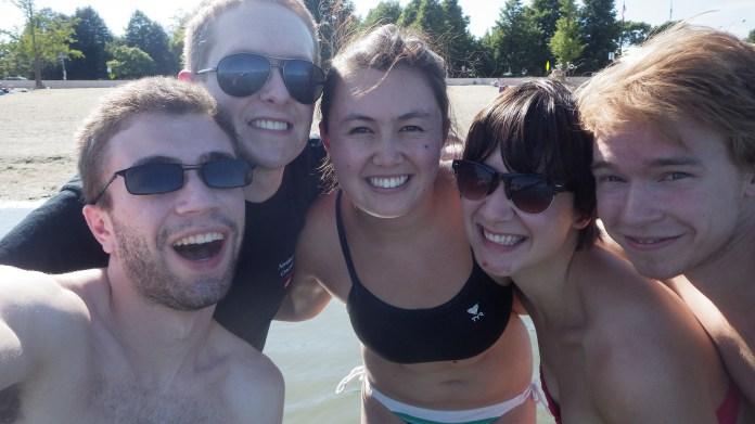 Us at the beach :) Aaron, Peter, myself, Erica, and Ben.