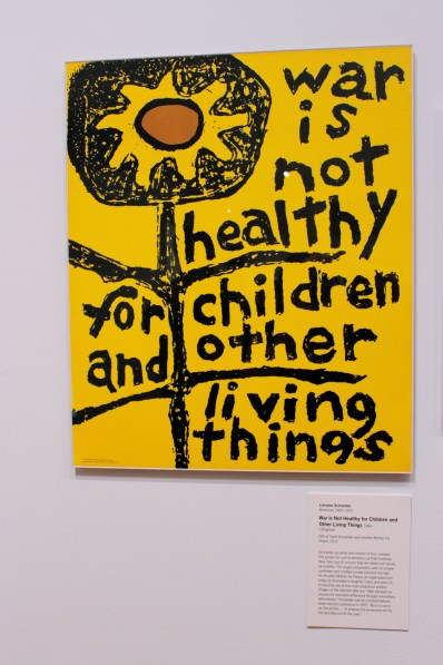 "Lorraine Schneider's ""War Is Not Healthy for Children and Other Living Things"", Lithograph 1966."