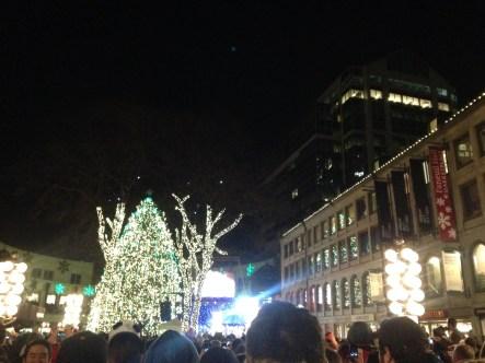 Boston's Faneuil Hall Christmas Tree Lighting!