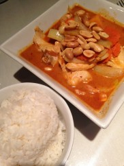 House of Siam - yellow curry and rice