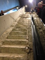 Survivor's Stairs at the 9/11 memorial museum