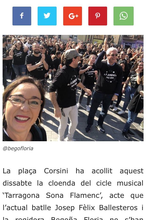 alcalde amb Samarretes tarragona sona flamenc fabricades per Blaumat