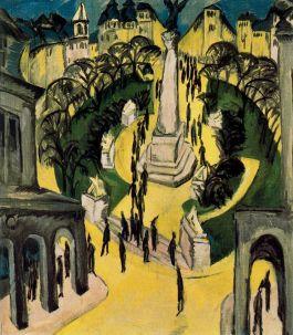 Ernst Ludwig Kirchner, The Belle-Alliance-Platz in Berlin, 1914