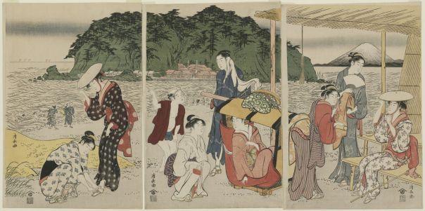 Torii Kiyonaga, A Pilgrimage to Enoshima, 18th century