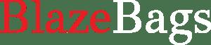Transparent blazebags logo red and white
