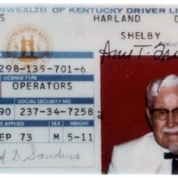 KFC icon Colonel Sanders' 1973 driver's license