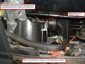 Confused  Blend Door Actuator or Temperature Actuator  Blazer Forum  Chevy Blazer Forums
