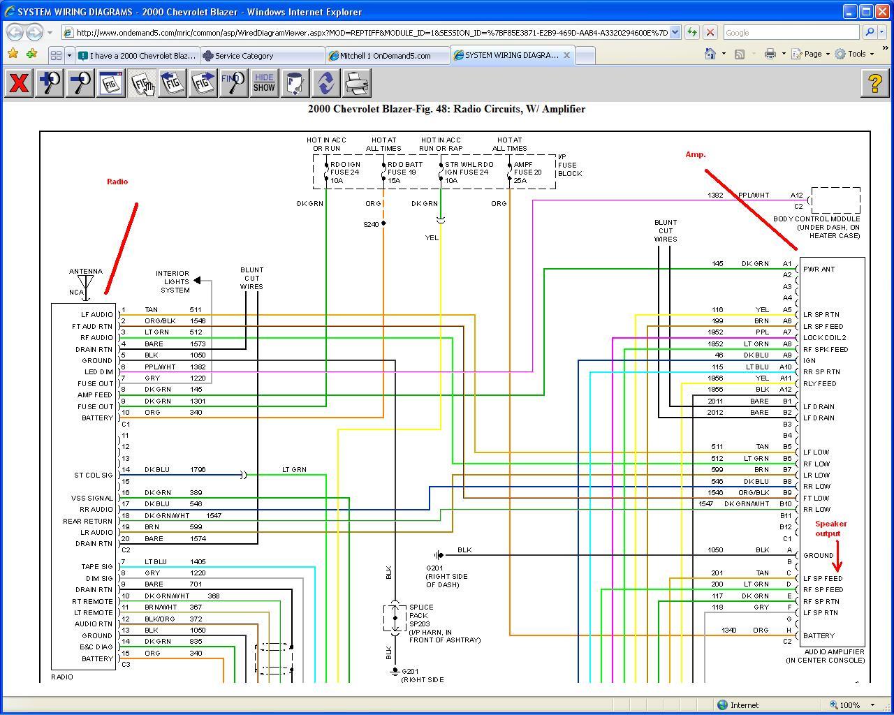 2002 Gmc Envoy Stereo Wiring Diagram Bose