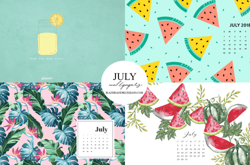July 2018 Calendar Wallpaper