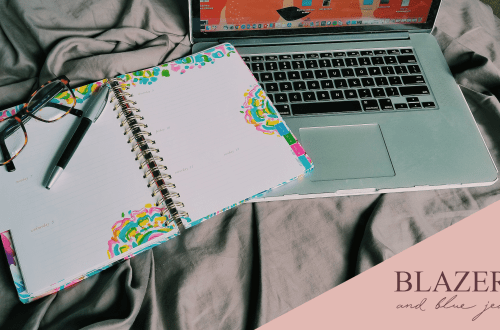 Lilly Pulitzer agenda with Apple Macbook Pro
