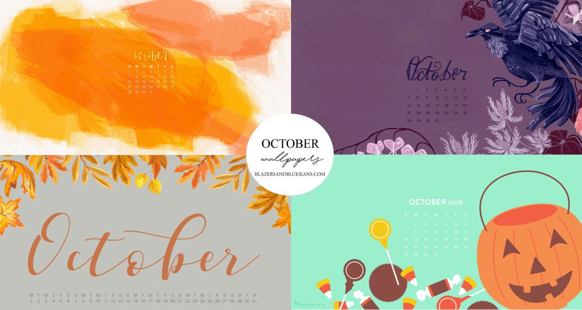 October 2018 Calendar Background